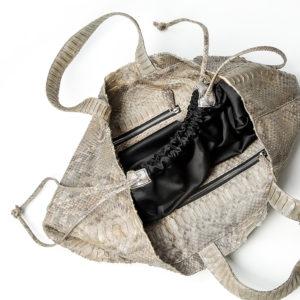 kundalini big shopper bag python skin - inside