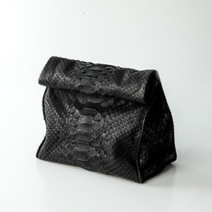 Håndtaske python skind - sort - Kundalini Boho Wrap