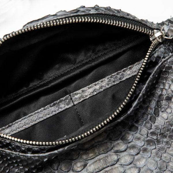 kundalini crossbody bum bag python skind inside big room