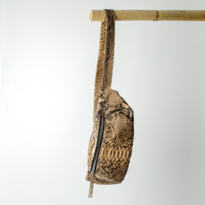 kundalini crossbody bum bag python skind - cognac