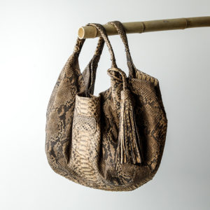 rapsody taske slange skind - cognac - kundalini
