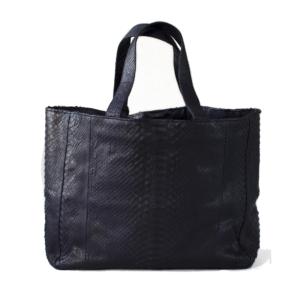 Kundalini big shopper bag python skind - sort bagside